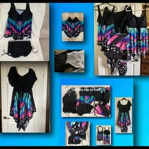3x Butterfly swimsuit, bottom,  cover up, dress +